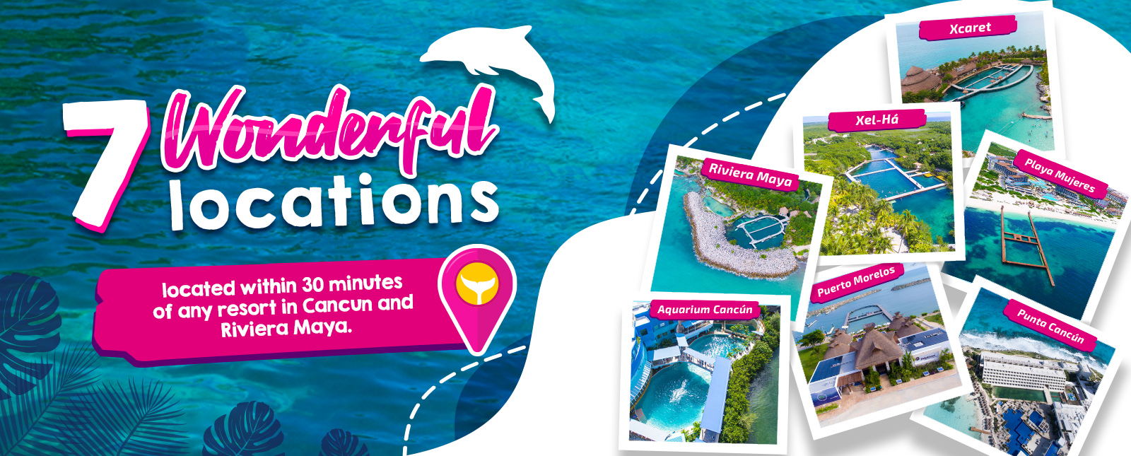 Locations Delphinus swim with dolphins Cancun and Riviera Maya
