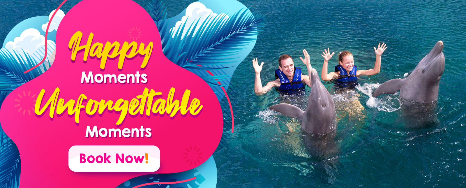 happy moments swim with dolphins cancun and riviera maya