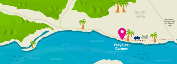 Como llegar a Playa del Carmen
