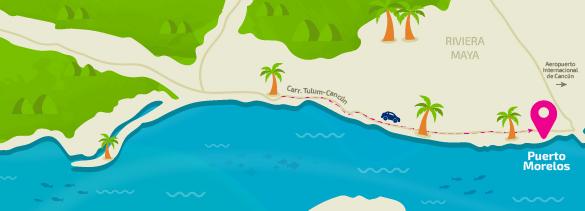Puerto Morelos _ map